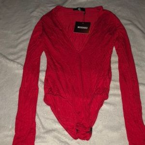 Misguided - one piece long sleeve size 4 small